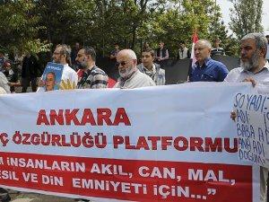 Ankarada İsraile kuruluş yıl dönümü protestosu