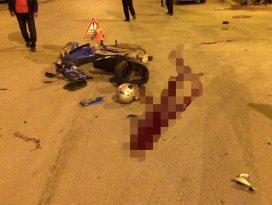 Konyada otomobille motosiklet çarpıştı: 1 ölü