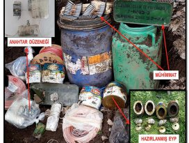 Bitliste arazide gömülü 600 kilo el yapımı patlayıcı ele geçirildi