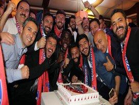 Kardemir Karabüksporda Süper Lig kutlaması