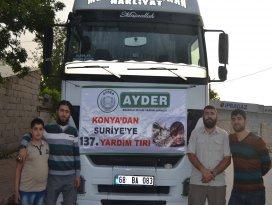 Konyadan Halepe yardım eli