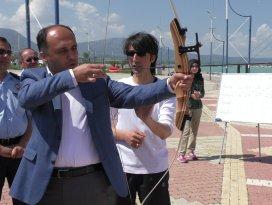 Beyşehir'de okçuluk yarışları tamamlandı