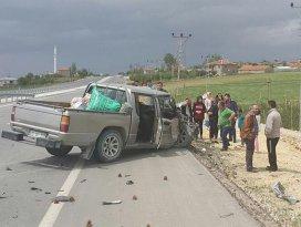 Karamanda trafik kazası: 12 yaralı