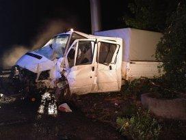 Konyada tır kamyonete çarptı: 1 ölü