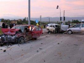 Kastamonu'da kavşakta zincirleme kaza: 9 yaralı
