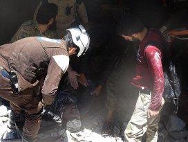 Rus savaş uçakları Halepte sivilleri vurdu
