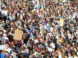 Hırvatistanda eğitim protestosu