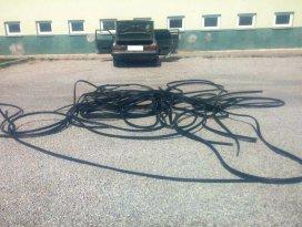 Konyada kablo hırsızlığı