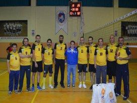 Hüyükte kurumlararası voleybol turnuvası