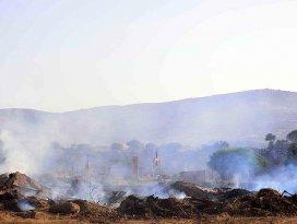 Bodrumdaki makilik alanda çıkan yangın kontrol altına alındı