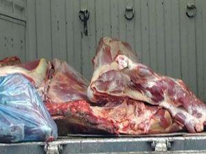 Konyada 200 kilo kaçak et yakalandı