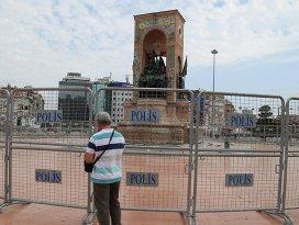 Taksim Meydanında güvenlik önlemleri alındı