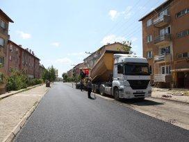 Seydişehirde asfalt çalışmaları devam ediyor