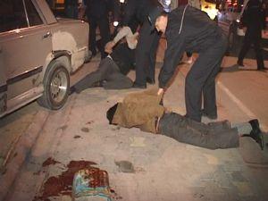 Polis aracına çarpınca...