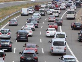 Bolu TEM otoyolunda 20 kilometre araç kuyruğu