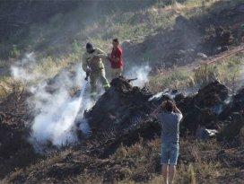 Çanakkale-Balıkesir sınırında orman yangını