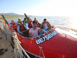Beyşehir Gölünde jetboat turları başladı