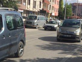 Konya-Ankara yolunda trafikte yoğunluğu