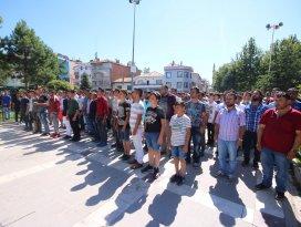 Konyada protesto yürüyüşü