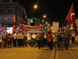 Konyada demokrasi nöbeti devam ediyor