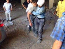 Kulu'da iskeleden düşen 2 sıva işçisi yaralandı
