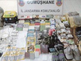 Gümüşhane'de teröristlere ait depo imha edildi
