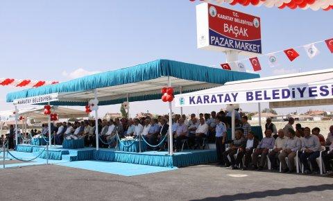 Karatayda 15. pazar market törenle açıldı