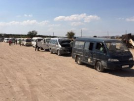 Azez'deki Cerabluslular evlerine dönüyor