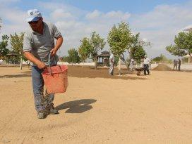 Karatay'da yeşil alan çalışmaları devam ediyor