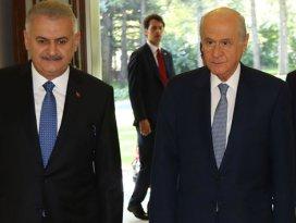 Başbakan Yıldırım ve Bahçeli görüşmesi sona erdi