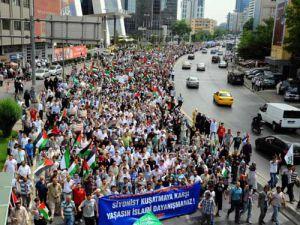 İsrail konsolosluğu yıkılıyor