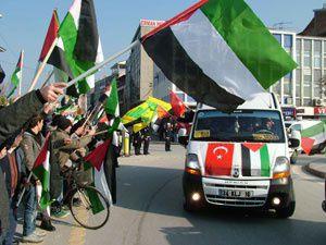 Gazze kahramanlarına muhteşem karşılama