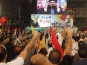 Lübnanda 9 şehidimiz için dev gösteri
