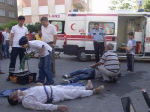 Akşehirdeki kazada 2 kişi yaralandı