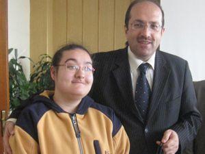 Engelli Öğrencilerden Esen'e Veda Ziyareti