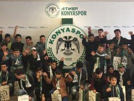 Sevgi evlerinde kalan çocuklar Konya stadını gezdi