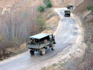 Askeri konvoya mayın tuzağı