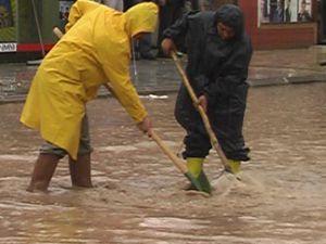 Beyşehiri su bastı