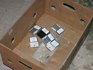 Polis mezarlıkta sigara hırsızlarını aradı