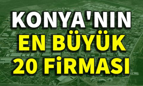 Konyanın en büyük 20 firması