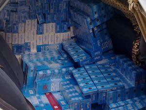 Konyada 10 bin paket sigara ele geçirildi