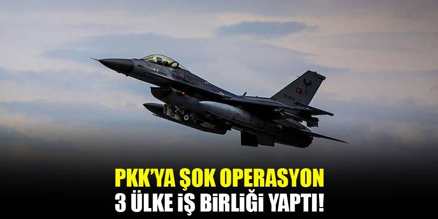 PKKya şok operasyon! 3 ülkenin iş birliği ile...