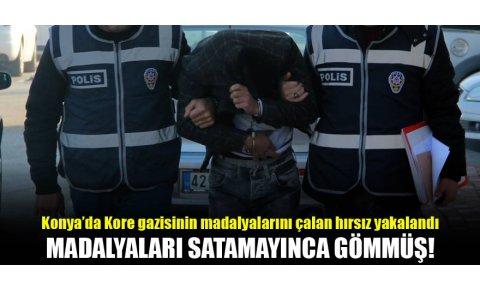 Konyada, Kore gazisinin madalyalarını çalan hırsız yakalandı