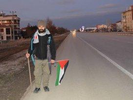 ABDnin Kudüs kararına tepki için yürüyor