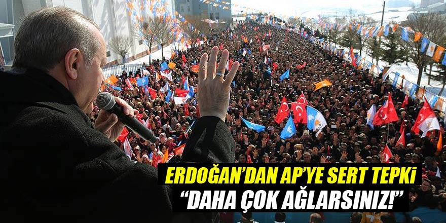 Erdoğandan sert tepki: Daha çok ağlarsınız