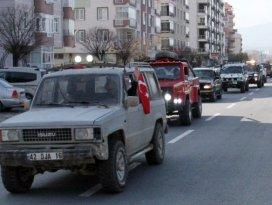 Off-road tutkunları Afrin şehitleri için buluştu