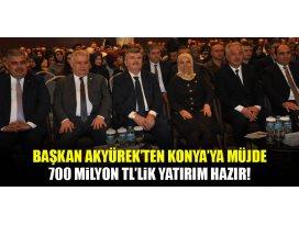 Başkan Akyürekten Konyaya müjde!