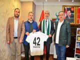 Angıya Konyaspor Başkanı Yılmazdan ziyaret