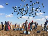 Mevsimlik tarım işçilerinin eve dönüş sevinci