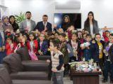 Konyada anaokulu öğrencilerinden Geleceğini Çöpe Atma projesine destek